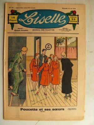 LISETTE N°19 (13 mai 1934) Poucette et ses soeurs (Georges Bourdin) Jase et Jasette (Pierre Portelette)