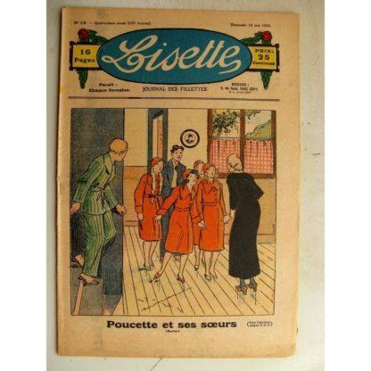 LISETTE n°19 (13 mai 1934) L'aiguille Fée (Liverani) Jase et Jasette (Pierre Portelette)