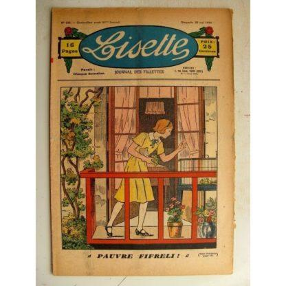 LISETTE n°20 (20 mai 1934) Pauvre Fifreli - Jase et Jasette (Pierre Portelette)
