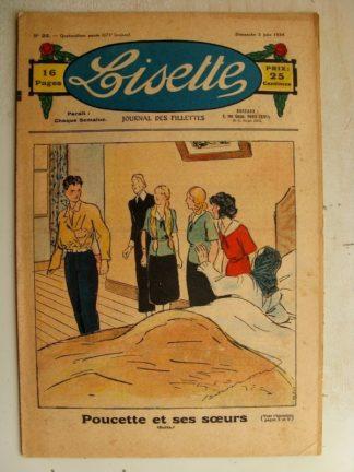 LISETTE n°22 (3 juin 1934) Poucette et ses soeurs (Georges Bourdin) Trois petites fées (Le Rallic)