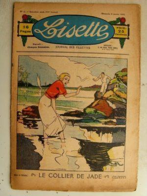 LISETTE N°1 (6 janvier 1935) Le rêve de Nicole (Madeleine Léonce Petit) Poupée Lisette (Chemise Empire)