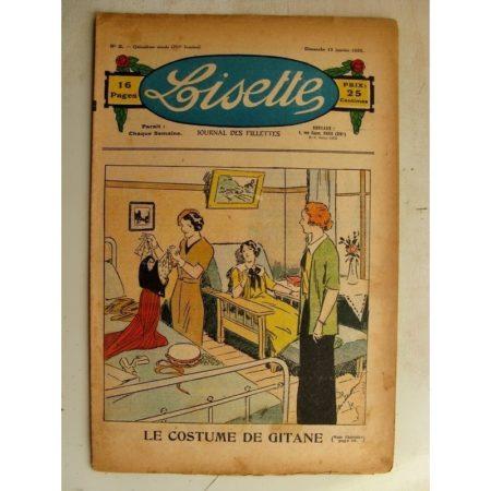 LISETTE n°2 (13 janvier 1935) Le costume de gitane (Georges Bourdin) Le collier de jade (Louis Maîtrejean)