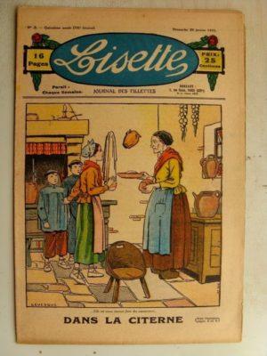 LISETTE N°3 (20 janvier 1935) Dans la citerne (Le Rallic) Problème (Davine – Blanche Dumoulin)