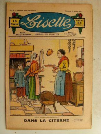 LISETTE n°3 (20 janvier 1935) Dans la citerne (Le Rallic) Problème (Davine - Blanche Dumoulin)