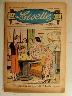 LISETTE N°4 (27 janvier 1935) Chapeaux des demoiselles (Emile Dot) L'ingénieux raton (Maurice Cuvillier)