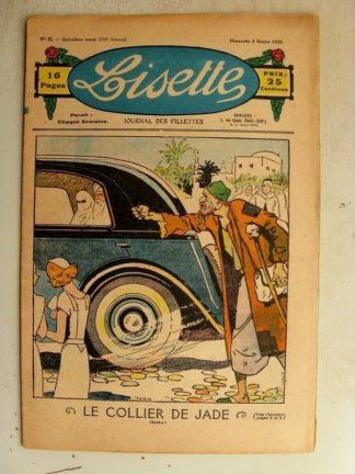 LISETTE n°5 (3 février 1935) Le collier de Jade (Louis Maîtrejean) Une nièce (Madeleine Léonce Petit)