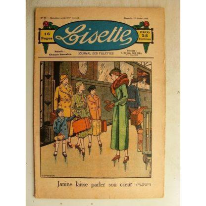 LISETTE n°7 (17 février 1935) Le coeur de Janine (Le Rallic) Poupée Lisette (Combinaison jupon)