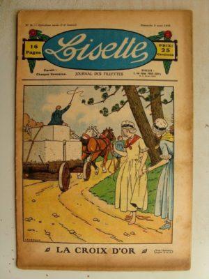LISETTE n°9 (3 mars 1935) La croix d'or (Le Rallic) Coquet peignoir pour fillette (croquis)