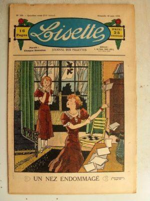 LISETTE N°10 (10 mars 1935) Un nez endommagé – Les deux tartines (Le Rallic)