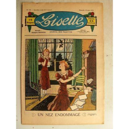 LISETTE n°10 (10 mars 1935) Un nez endommagé - Les deux tartines (Le Rallic)