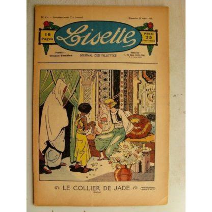 LISETTE n°11 (17 mars 1935) Le puits merveilleux (Madeleine Léonce Petit) Poupée Lisette (Tablier)