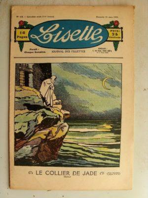 LISETTE N°13 (31 mars 1935) Le collier de Jade (Louis Maîtrejean) La baptême d'Iris (Le Rallic)