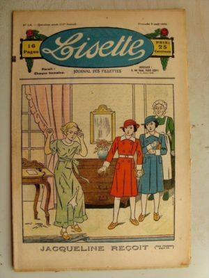 LISETTE n°14 (7 avril 1935) Le collier de Jade (Louis Maîtrejean) Jase et Jasette (Pierre Portelette)