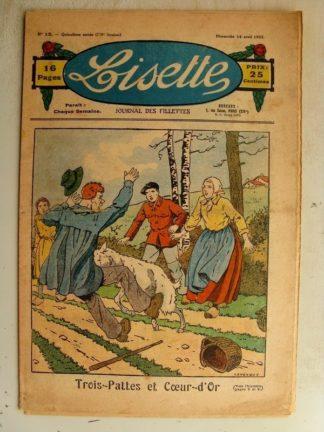 LISETTE n°15 (14 avril 1935) Trois pattes et coeur d'or (Le Rallic) Poupée Lisette (Robe)