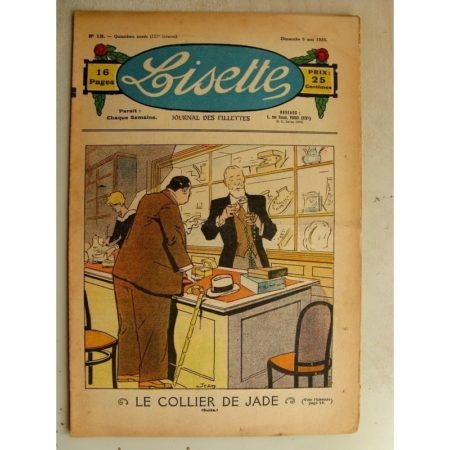 LISETTE n°18 (5 mai 1935) Bataille de fleurs (le Rallic) Le collier de Jade (Louis Maîtrejean)