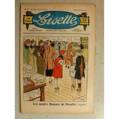 LISETTE n°19 (12 mai 1935) Les mamans de Monette (Georges Bourdin) Poupée Lisette (robe et veste)