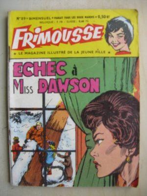 FRIMOUSSE N°89 Echec à Miss Dowson Châteaudun 1962)