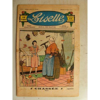 LISETTE n°7 (16 février 1936) Chassée (Le Rallic - André HENRY)