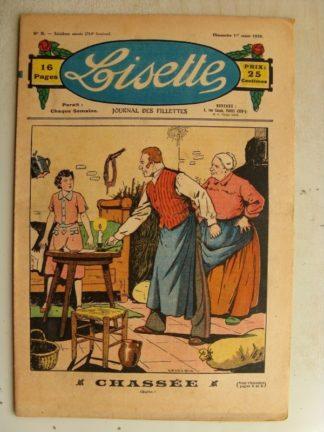 LISETTE n°9 (1er mars 1936) Chassée (Le Rallic - André HENRY) Promenade à travers le temps (Maurice Cuvillier)