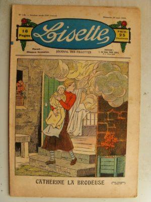 LISETTE N°13 (29 mars 1936) Catherine la brodeuse – La légende de la Marguerite (Valdor)