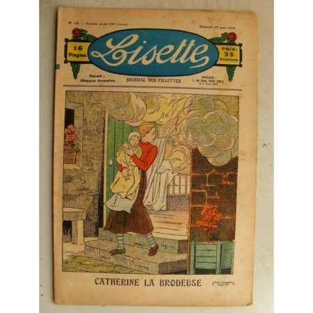 LISETTE n°13 (29 mars 1936) Catherine la brodeuse - La légende de la Marguerite (Valdor)