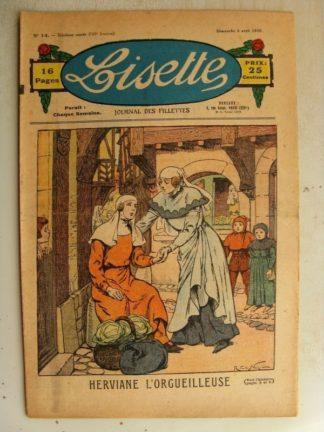 LISETTE n°14 (5 avril 1936) Herviane l'orgueilleuse (Raymond de la Nézière)