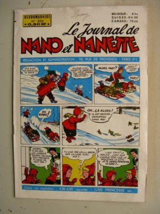 NANO ET NANETTE n° 201 (1960)