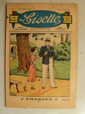LISETTE N°17 (26 avril 1936) Marie Anne et Anne Marie (Davine – Blanche Dumoulin) Poupée Lisette (veste et jupe)