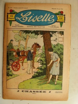 LISETTE N°19 (10 mai 1936) Poupée Lisette (Robe piquée) Marie-Anne et Anne-Marie (Davine – Blanche Dumoulin)