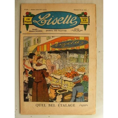 LISETTE n°21 (24 mai 1936) Le bel étalage (Louis Maîtrejean)