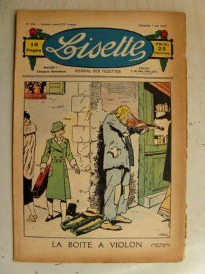 LISETTE N°23 (7 juin 1936) La boîte à violon (Louis Maîtrejean) Poupée lisette (Barboteuse)
