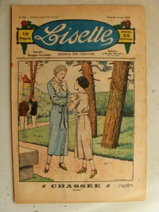 LISETTE n°24 (14 juin 1936) Chassée (Le Rallic)