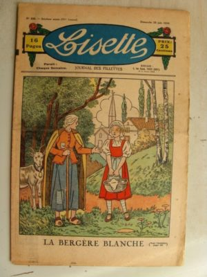 LISETTE N°26 (28 juin 1936) La bergère blanche – Marie-Anne et Anne-Marie (Davine – Blanche Dumoulin)