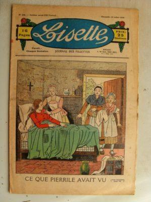 LISETTE n°28(12juillet 1936) La chatte grise (conte) Marie-Anne et Anne-Marie (Davine – Blanche Dumoulin)