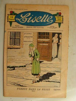 LISETTE n°29(12juillet 1936) Marie-Anne et Anne-Marie (Davine – Blanche Dumoulin) Tablier et blouse paletot (patron)