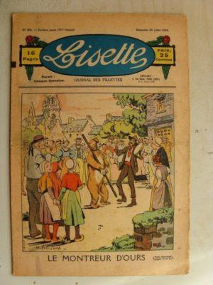 LISETTE n°30(26juillet 1936) Le montreur d'ours – Marie-Anne et Anne-Marie (Davine – Blanche Dumoulin)