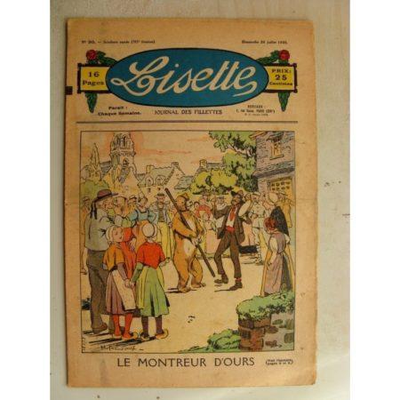 LISETTE n°30(26juillet 1936) Le montreur d'ours