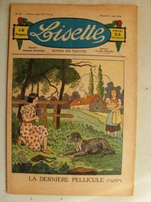 LISETTE n°31(2 août 1936) Perdue dans la neige (Louis Maîtrejean) Robe de sport pour fillette