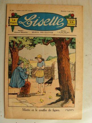 LISETTE n°32 (9 août 1936) Miette et le couffin de figues (Le Rallic)