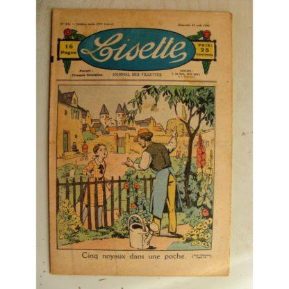 LISETTE n°34 (23 août 1936)Cinq noyaux dans une poche