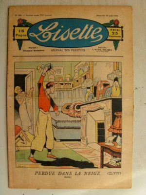 LISETTE n°35 (30 août 1936) Le col de Guipure - Le jardin de la princesse Aurore (Louis Maîtrejean)