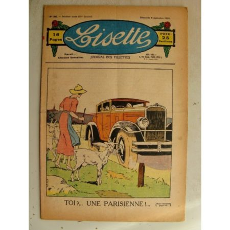 LISETTE n°36 (6 septembre 1936) La parisienne