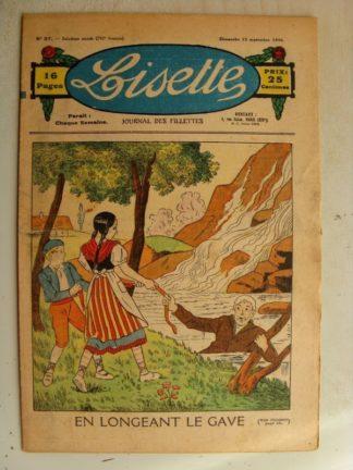 LISETTE n°37 (13 septembre 1936) En longeant le Gave - Poupée Lisette (Vareuse)