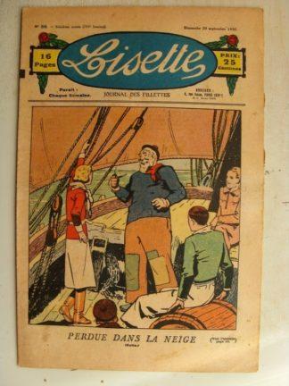 LISETTE n°38 (20 septembre 1936) Perdue dans la neige (Louis Maîtrejean)