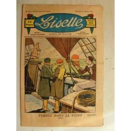 LISETTE n°39 (27 septembre 1936) Perdue dans la neige (Louis Maîtrejean)