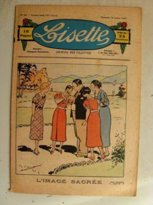 LISETTE n°42 (18 octobre 1936) L'image sacrée (Georges Bourdin)