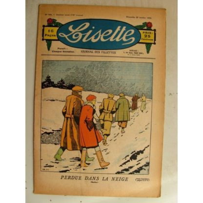 LISETTE n°43 (25 octobre 1936)Perdue dans la neige (Louis Maîtrejean)