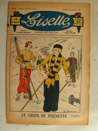 LISETTE n°46 (15 novembre 1936)Le choix de Pounette