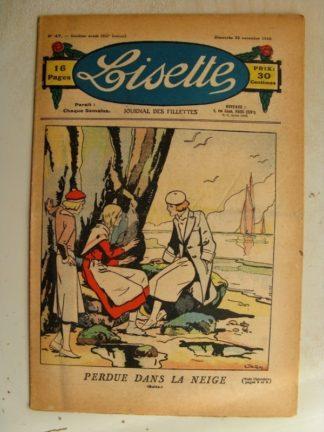 LISETTE n°47 (22 novembre 1936)L'aiguille magique (Madeleine Léonce Petit)
