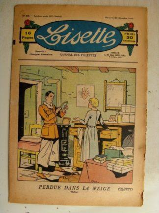 LISETTE n°50 (13 décembre 1936) Lison et L'Ogre (conte) Les coiffures à travers les âges (Henriette Roynette)